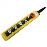 Пульт 8 кнопочный, 2 ступенчатые кнопки + стоп бутон + старт + стоп + ключ (XAC-A10913Y)