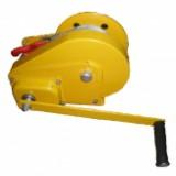 Лебёдка барабанная серии AHW с автоматическим тормозом (крашенный корпус)
