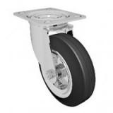 Большегрузное колесо обрезиненное марки C-4102-DYS/DUS поворотное, без тормоза, г/п 100-1100кг